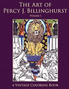 Percy Billinghurst Volume 1 Vintage Coloring Book Cover - see all pages inside at the link