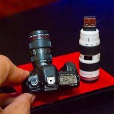 CANON CAMERA EOS 5D Mark II DSLR miniature USB FLASH DRIVE 32GB set (16GB x 2) with two lense Canon EF 24-105mm f/4L IS USM and Canon EF 70-200 mm F/2.8L IS USM *NOT A REAL CAMERA and NOT REAL CAMERA LENSES III 3*