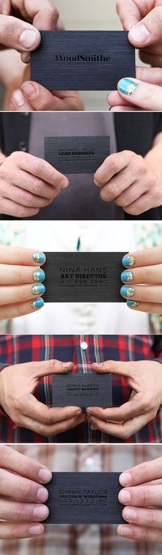 Woodworking business cards. Those hands definitely match their job titles.