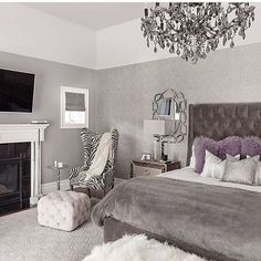 Wonderful but the tv & fireplace would be in front of the bed