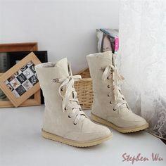 NEW 2015 vintage women boots autumn and winter women snow boots front strap  ankle boots nubuck leather boots em Botas de neve de Sapatos no  AliExpress.com ... fa984f45ee761