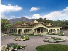 Spanish Revival House Plan with 2539 Square Feet and 3 Bedrooms from ...