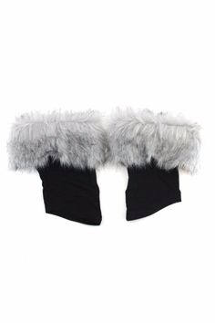 To dress up your boots. Plush faux fur trim polyester, one size.    Bootlegs Silver by Ganz. Accessories - Winter Accessories Alabama