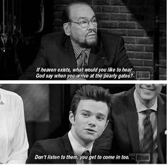 Chris Colfer has the best quotes.