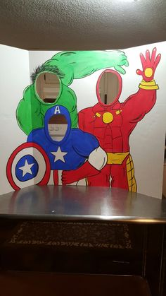 We definitely need something like this.... Superhero hero cutout, superhero party,hulk