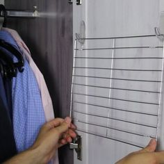 Discover thousands of images about alternative uses for dollar store cooling racks, how to, organizing, repurposing upcycling, storage ideas Kitchen Organization, Kitchen Storage, Storage Organization, Storage Ideas, Organizing Scarves, Organization Ideas, Coat Closet Organization, Craft Storage Solutions, Dollar Tree Organization