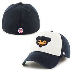 bb067a52315 Get this Chicago Cubs 1969 Bear Face Freshman Franchise Fitted Cap at  WrigleyvilleSports.com