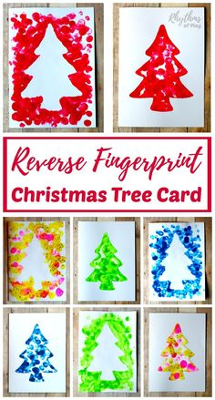 Have your kids make an easy homemade reverse fingerprint Christmas tree card to share with your friends and family this holiday season. Making one will give you two cards that can be made into a keepsake gift. DIY kid-made cards like this make a unique an