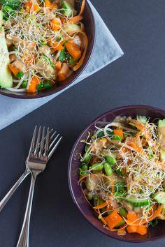 Thai Peanut Power Bowls // found on savourandshine.com