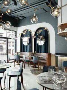 Interior design inspirations for your luxury restaurant design. Check more at sp. Cafe Bar, Cafe Restaurant, Restaurant Design, Luxury Restaurant, Design Hotel, Luxury Cafe, Restaurant Interiors, Restaurant Lighting, Restaurant Furniture