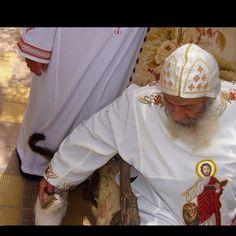 Can't have rainbows without rain Pope Shenouda, Alexandria, Gods Love, Christianity, Catholic, Ruffle Blouse, Faith, Culture, History