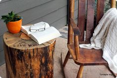 Cabin end-tables.