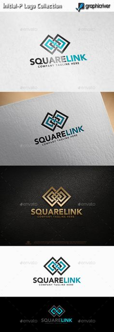 Square Link - Infinity Square Logo Design Template Vector #logotype Download it here: http://graphicriver.net/item/square-link-infinity-square/13462150?s_rank=433?ref=nexion