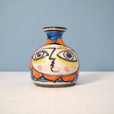 Mid Century Modern Giovanni Desimone Hand Painted Bud Vase