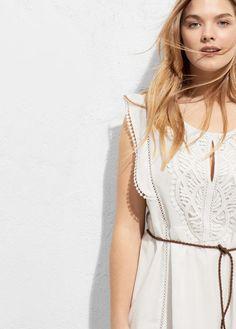 Violeta BY MANGO Openwork Cotton Dress - $119.99
