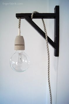 FINGERFABRIK: DIY: Cable lamp tutorial.   I don't love this exactly, but there's potential with the aesthetic.