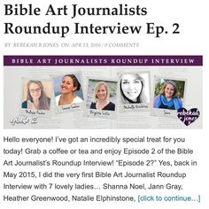 What fun this was! I had the privilege of answering some fun questions for @rebekahrjones for her bible journaling roundup interview. I was honored to get to join these other ladies to answer questions about our own journey what supplies we love and how it has changed our lives! I will leave a link in my profile for today so you can pop over and read but after today you can find it on Rebekah's blog(she has a link on her Instagram page) thanks so much Rebekah you are a blessing!!