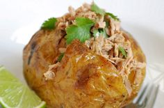 Tuna, lime and coriander jacket Jazz up your jacket potato with this tuna, lime and coriander recipe. Not only does it include tips on getting a really crispy and delicious skin but the tangy tuna and lime combination is irresistable Baked Potato Fillings, Potato Recipes, Lunch Recipes, New Recipes, Dinner Recipes, Cooking Recipes, Healthy Recipes, Fodmap Recipes, Seafood Recipes