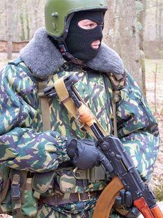 Russian FSB SPETSNAZ Operator in Chechnya, Winter 2005.