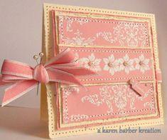 Love this girly pink handmade card!