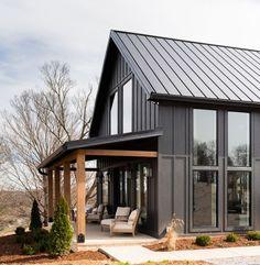 Plan Chalet, Modern Farmhouse Exterior, Exterior Paint, Cabin Exterior Colors, The Ranch, Home Design, Design Ideas, Interior Design, House Painting