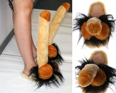 SLIPPERS MEN & WOMENS WILLY PENIS PECKER PLUSH FUNNY PERFECT GIFT