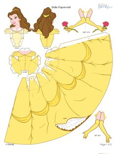 Disney's Beauty and the Beast Printables, Coloring Pages and Activities Imprimibles Toy Story Gratis, Heros Disney, Princess Birthday Party Decorations, Disney Paper Dolls, Paper Dolls Clothing, Beauty And Beast Wedding, Cute Origami, Cool Paper Crafts, Disney Belle