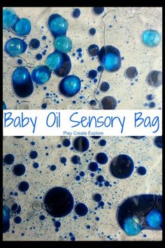 Sensory bag- baby oil and food coloring