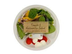 M&S Tomato & Mozarella Salad @ 264 calories Tomato Mozarella Salad, Mozzarella Salad, Low Calorie Salad, Salad Bowls, Breakfast, Food, Morning Coffee, Meal, Essen