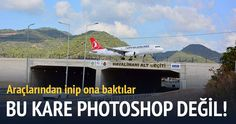Antalya'da pist karayolundan geçiyor