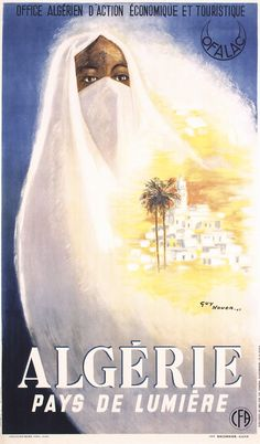 Rare Original 1940s Algeria Travel Poster