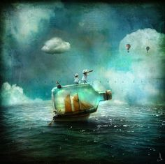 Mutable water allows the soul to touch that which is transcendent.  alexander jansson Digital Illustrations 06
