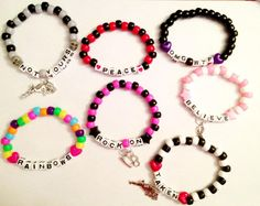 At Checkout You MUST State Colors, Adult or Child, Word Saying & Charm Choice. (2 charms max please)
