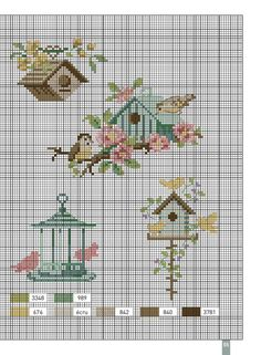 Au Fil des Saisons- Bonnin, Enginger, LaCroix Plus Cross Stitch Beginner, Tiny Cross Stitch, Cross Stitch Cards, Cross Stitch Animals, Cross Stitch Flowers, Cross Stitch Designs, Cross Stitching, Cross Stitch Embroidery, Embroidery Patterns