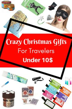 A true traveler wants things that are either necessary or chic — and with any luck, both.  So here's a handful of gifts under 10$ for every traveler on your list. #gifts #travelgifts #christmas #christmasgifts #christmasgiftideas