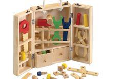 Maletín de herramientas de madera para niños