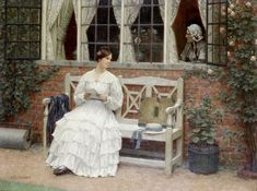 The Athenaeum - The Latest News (Edmund Blair Leighton - )