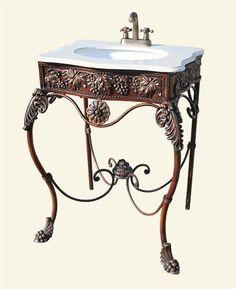 Beatiful bathroom sink to go with my antique bath tub