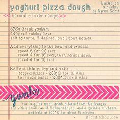 Yoghurt pizza dough for the bellini