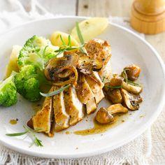 Découvrez la recette de l'émincé de poulet aux cèpes