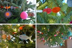 Awesome handmade ornaments from Funnelcloud Rachel