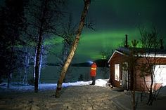 Aurora Borealis over Lapland  Northern Lights Packages