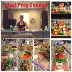 I'm not great at being consistent with doing meal prep but I'm trying! It really does set me up for the week and keep me on track. I also feel good when Its done so I need to stop my laziness.  I turn on Pandora and just rock out lol. The hubby took a pic with cutting veggies. Sexy I know!!  I did prep through Thursday - except I won't be eating raw turkey - that is going to be Turkey Meatloaf  I'll do another short prep for Friday on either Wed or Thursday but want it to taste fresh.