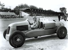 George Bailey in the first rear-engine car to qualify for the 500 in 1939