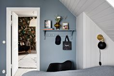 The Nordroom - A Stylish Scandinavian Home with Cozy Nooks Cozy Nook, White Apartment, Scandinavian Home, Love Home, Home Photo, Cool Walls, Wall Shelves, Kids Bedroom, Color Inspiration