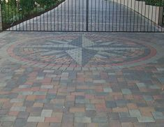 Not part of my plan but I LOVE THIS!!!!  Driveway landscaping | AIC LANDSCAPING. Landscaping, Masonry, Hardscape, Pond, Waterfall ...