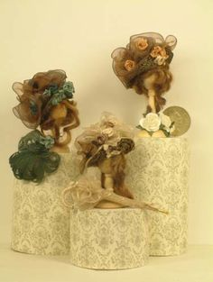 The Little Hatter - Miniature Dolls House Straw Hats - Items for sale.