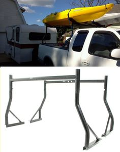For the Ford this MaxxTow Ladder Rack is awesome for transporting ladders, kayaks and anything else oversized! These accessories are constructed of sturdy steel with a black powder coat finish. Simple installation and max capacity of 500 lbs! Diesel Trucks, Ford Trucks, Ute Canopy, Mini Trucks, Truck Bed, Truck Accessories, Kayak Fishing, Car Insurance, Kayaking
