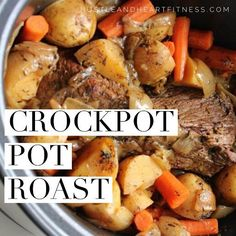 Easy Clean Eating Pot Roast Crock Pot Recipe - Food and Drink, mmm. - This is a simple crock pot meal, it is simply a chuck roast with potatoes and carrots, super simple and a easy weekday meal! What you need: 2 to Roast Recipe Easy, Easy Pot Roast, Roast Beef Recipes, Easy Crockpot Roast, Crock Pot Chuck Roast, Slow Cooker Beef Roast, Crock Pot Beef, Dinner Crockpot, Easy Crockpot Pot Roast Recipe