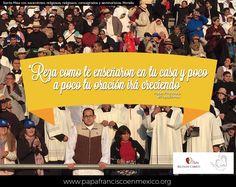 """""""Reza como te enseñaron en tu casa y poco a poco tu oración irá creciendo"""" #PapaFrancisco #PapaEnMex #PapaEnMich #SomosRC #RegnumChristi #Orar #Rezar"""